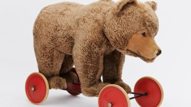 Too much to bear: The life-size ride-on bear.