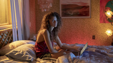 Zendaya as Rue in Euphoria.