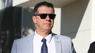 Former Ipswich Mayor Andrew Antoniolli is seen arriving at the Magistrates Court in Ipswich on Thursday.