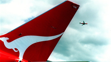 Qantas shares were at their lowest in a month on Tuesday.