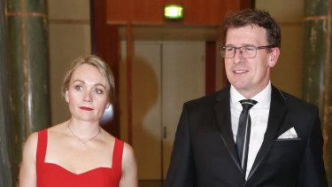 Rachelle Miller and Alan Tudge in 2017, the year the couple had an affair.