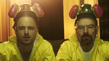 Former chemistry teacher Walter White (right, played by Bryan Cranston) turned to making illicit drugs in the  hit TV series Breaking Bad.
