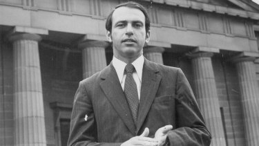 Gerald Stone as a young reporter working for the ABC in Australia.