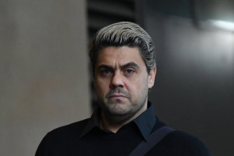Dan Sultan arrives at court on Monday.