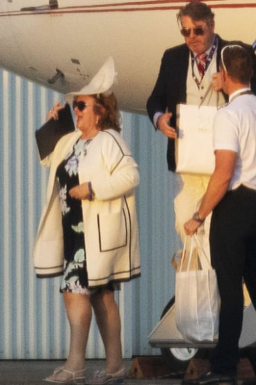 Gina Rinehart recently flew into Sydney with a man who looked an awful lot like Johan Dyrnes.