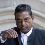 Deo Narayan outside the Downing Centre, where he gave evidence in the drug importation trial.