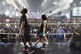 A biggest vape cloud competition at a vape summit in Las Vegas in 2015.