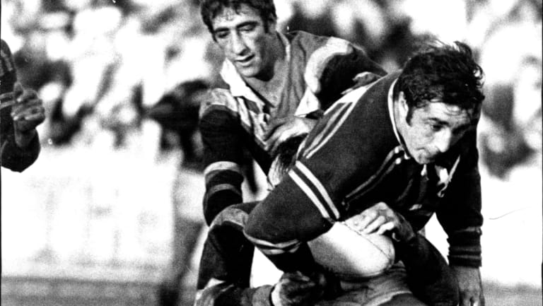 Old boy: Peter Peters in Manly colours way back in 1971.