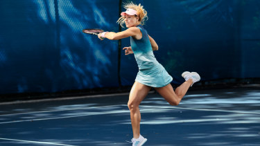 Angelique Kerber gives the Adidas range a test run.