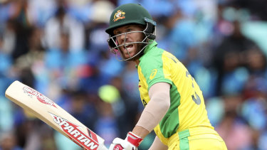 Australia's David Warner received an early life against India.