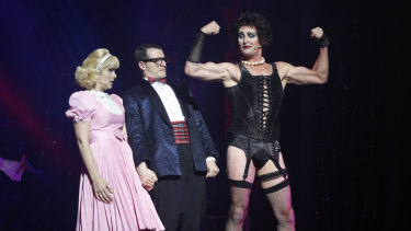Michelle Smitheram, Rob Mallet and Todd McKenney in the Rocky Horror Picture Show.