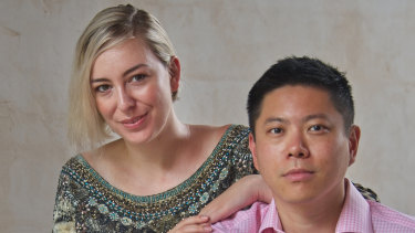 Wattle Hill Capital's Albert Tse, pictured with his wife Jessica Rudd, has made a $190 million bid for Capilano Honey.