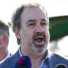 Sports minister Martin Pakula discusses the likelihood of crowds at this year's AFL finals.