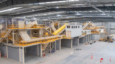 The facility is the largest in Australia, taking around 50,000 garbage trucks worth of waste annually.