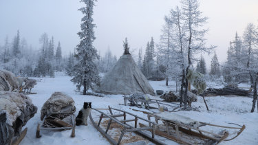 The remote village of Yar-Sale in Northern Siberia.