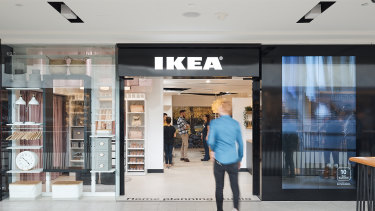 Ikea's first small city store opens on Friday in Sydney.