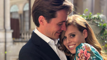 Princess Beatrice and Mr Edoardo Mapelli Mozzi when their engagement was announced.