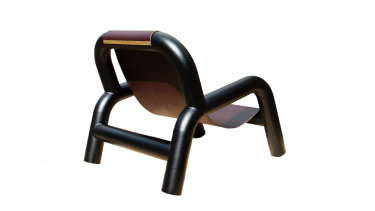 """Designer C.J. Anderson's """"Soigné"""" chair resembles extruded licorice."""
