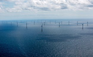 An offshore wind farm operated by RWE. The rapid shift to renewables has shaken up the country's energy market.
