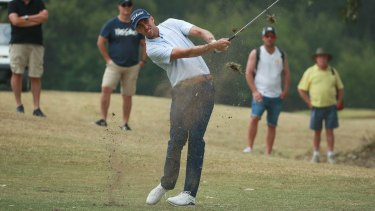 Justin Warren shares the NSW Open lead after the third round of the tournament at Twin Creeks Golf and Country Club.