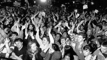 Celebrations at Circular Quay, September 23, 1993.