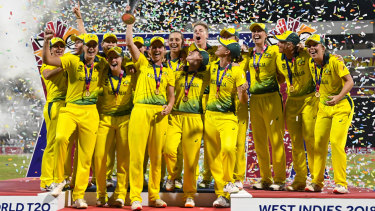 Winning culture: Australia's women's cricket team celebrate their World T20 victory.