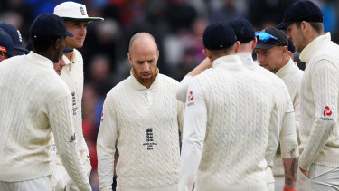 Hard to live down: Jack Leach and England learn Steve Smith's dismissal was off a no ball.