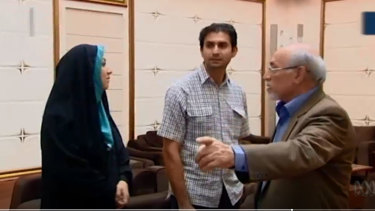 Iranian state TV aired footage of Dehbashi Kivi returning home after 13 months in custody in Australia.
