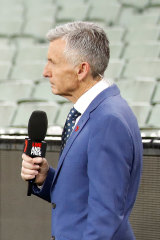 Bruce McAvaney will be calling from Seven's studio in Adelaide.