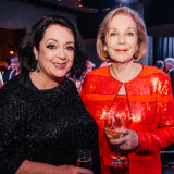 Wendy Harmer and Ita Buttrose annual Andrew Ollie media lecture on Friday night.