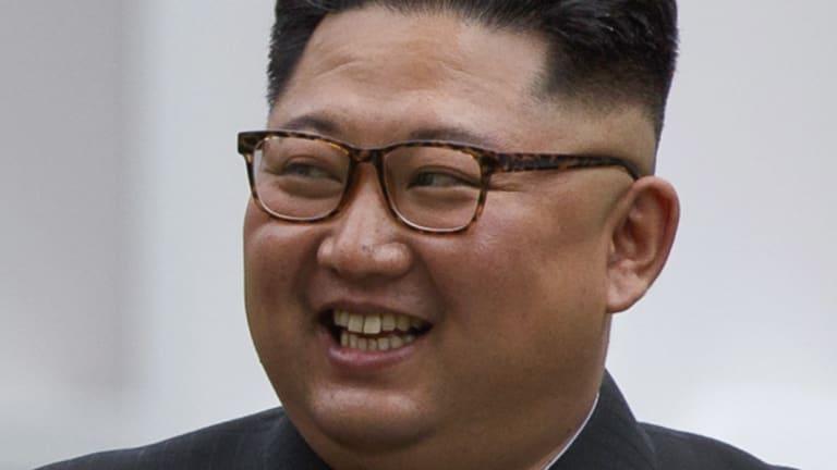 Kim Jong-un during the meeting with Donald Trump.