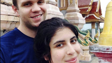Undated photo showing Matthew Hedges with his wife Daniela Tejada.