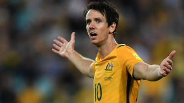 Rising above the hate: Robbie Kruse has been much maligned by Socceroos fans on social media.