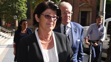 Magistrate Dominique Burns leaving court on Monday.