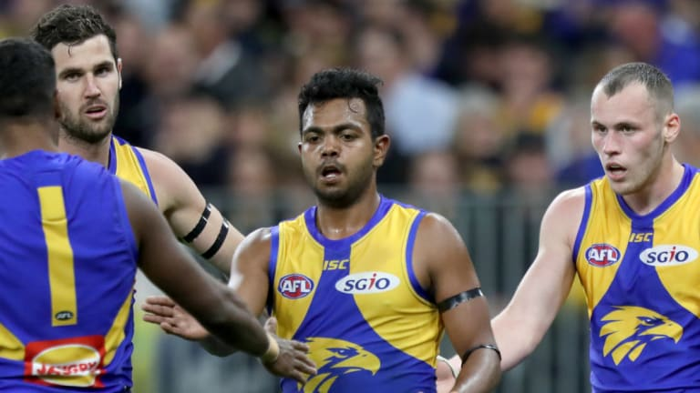 Willie Rioli (C) has already spoken to his cousin Cyril about this week's grand final.