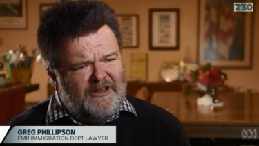 Former immigration department lawyer Greg Phillipson believes he has paid a price for speaking to the media.