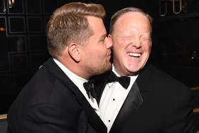 James Corden (sort of) apologises for 'ass-kissing' Sean Spicer at the Emmys
