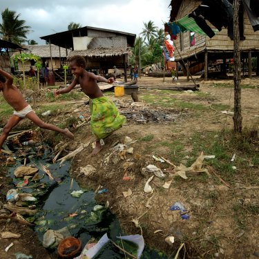Daru in Papua New Guinea, August 2011.  A cholera outbreak on the island between November 2010 and January 2011 killed 300 people.
