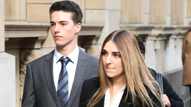 Erin Baylis-Clarke arrives at the Supreme Court on Monday.