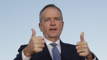 Labor leader Bill Shorten and his team bunkered down to run the ruler over the budget on Wednesday.