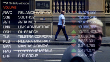 The Australian sharemarket plunged almost 40 per cent before recovering most of those losses.