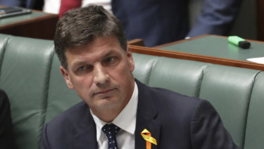 Federal Energy Minister Angus Taylor is the grandson of the man who oversaw the building of the first Snowy Hydro scheme.