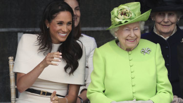 Queen Elizabeth II and Meghan, the Duchess of Sussex, made their first outing together.