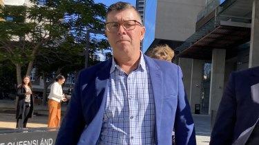 Former Ipswich mayor Andrew Antoniolli leaves the Brisbane Supreme Court on Thursday.