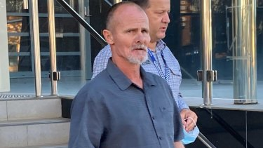 Andrew Beveridge, a friend of gunman Ricky Maddison, leaves Toowoomba Courthouse on Monday, after giving evidence.