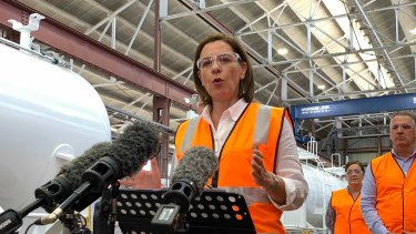 Queensland LNP leader Deb Frecklington in Townsville on Friday.