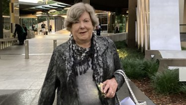Linette Davisleaves Brisbane Magistrates Court on Tuesday evening after testifying at the Whiskey Au Go Go inquest.
