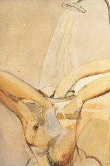 Brett Whiteley's painting Wendy under the Shower, 1962, from the catalogue.
