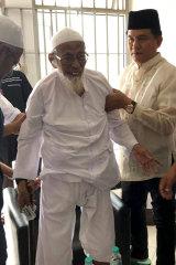 Abu Bakar Bashir in prison.