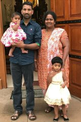 Priya and Nadesalingam and their two Australian-born children